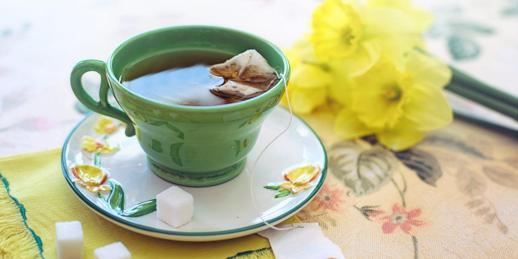 heure du thé sucre tasse
